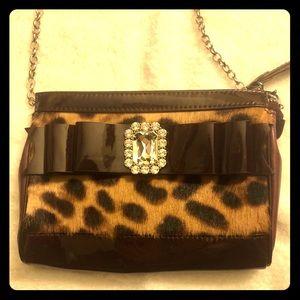 My flat in London  Crossbody Leopard print purse